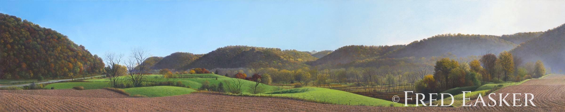 Autumn Along Village Creek by Fred Easker