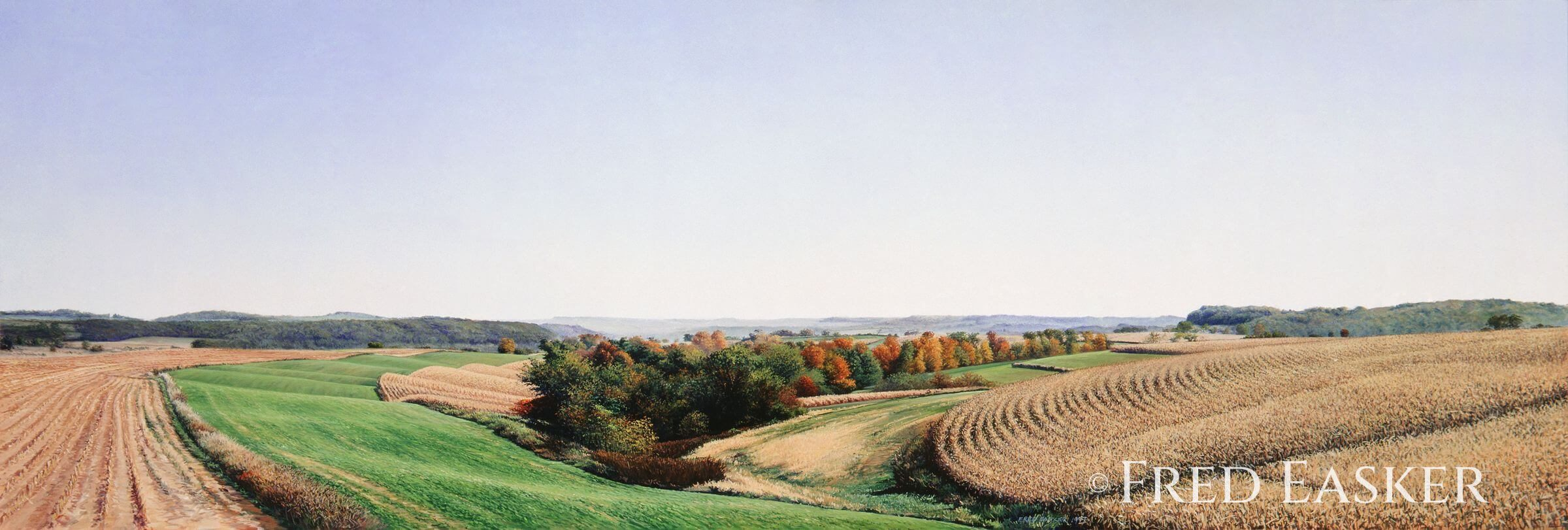 Autumn View Near Claremont by Fred Easker