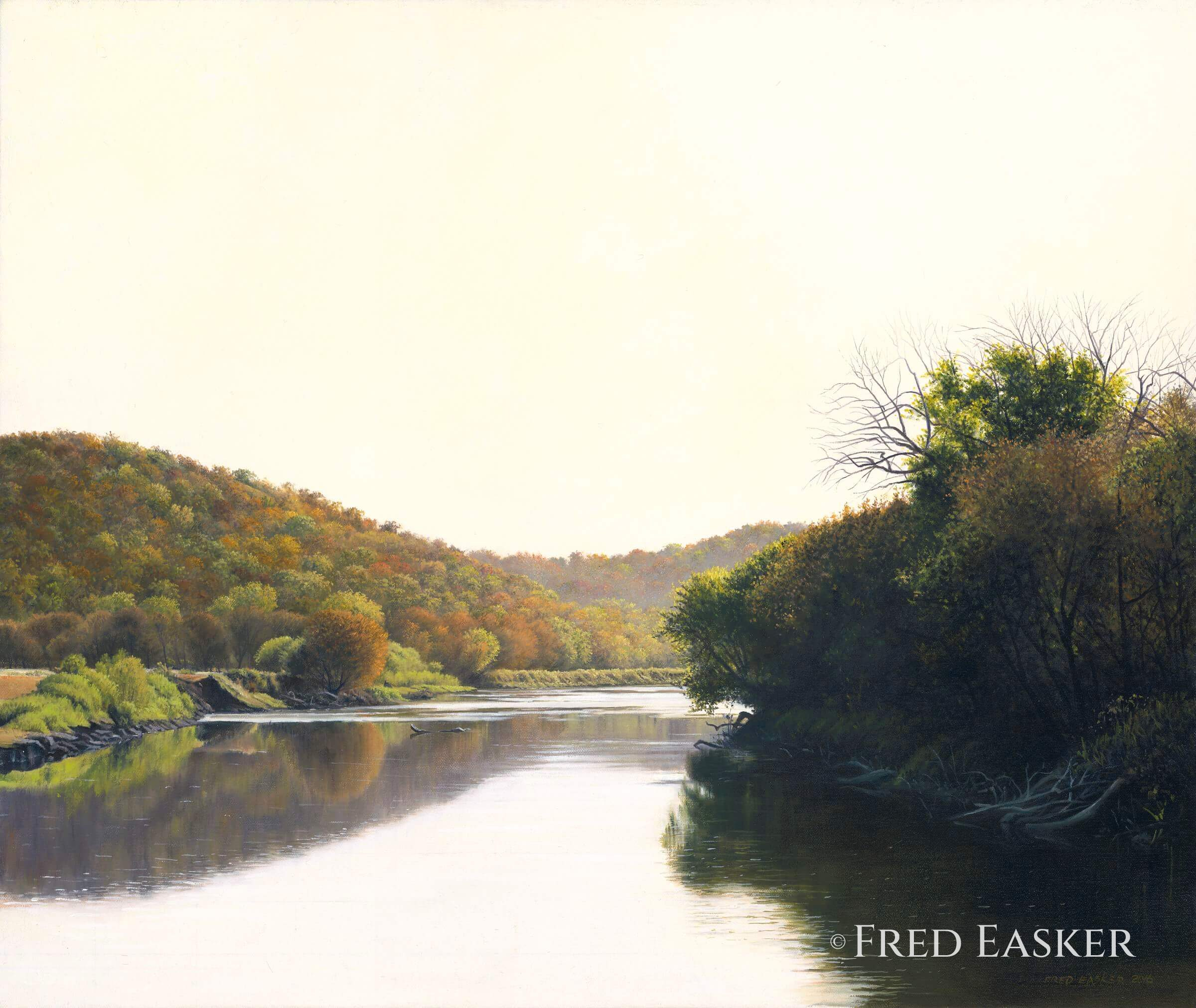Bend At Osterdock by Fred Easker