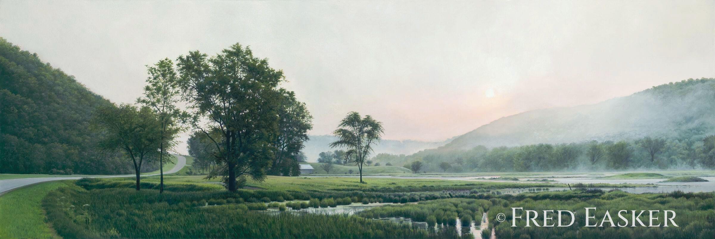 Daybreak Near Village Creek by Fred Easker