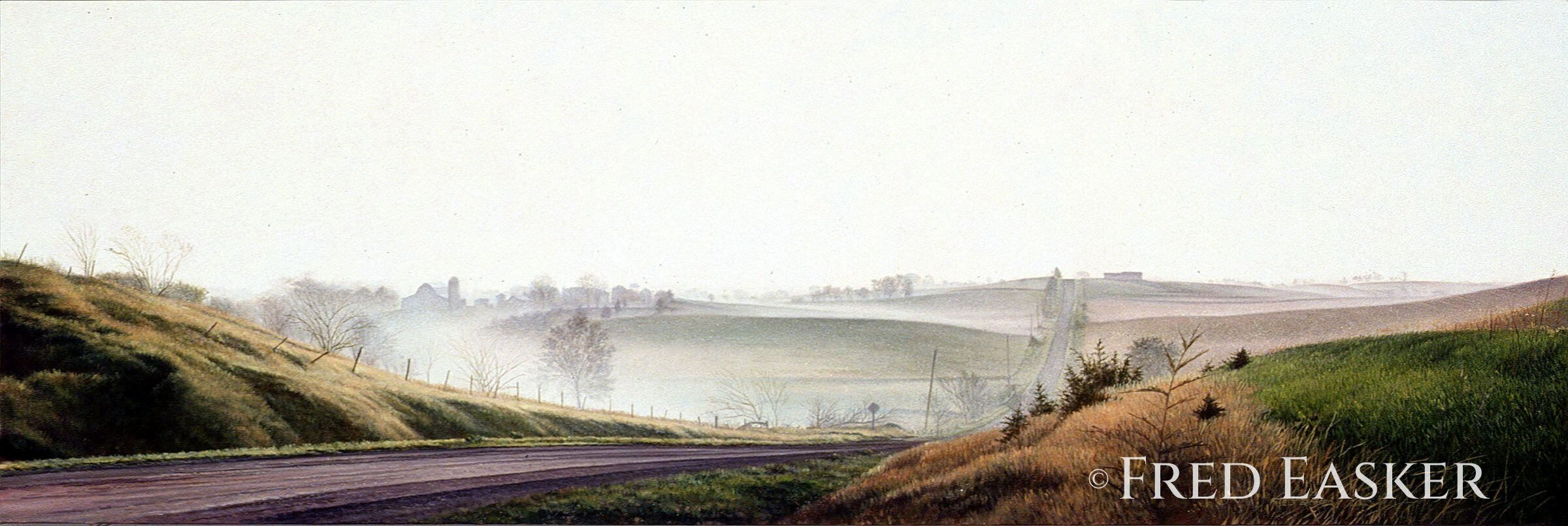 Morning On Creek Road by Fred Easker