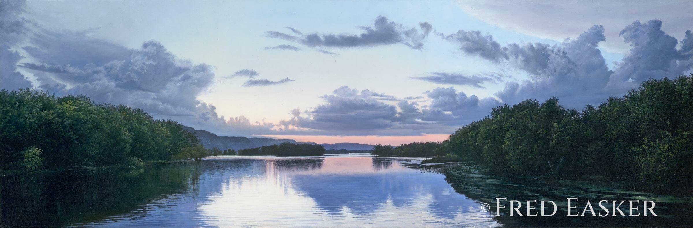 River Dusk by Fred Easker