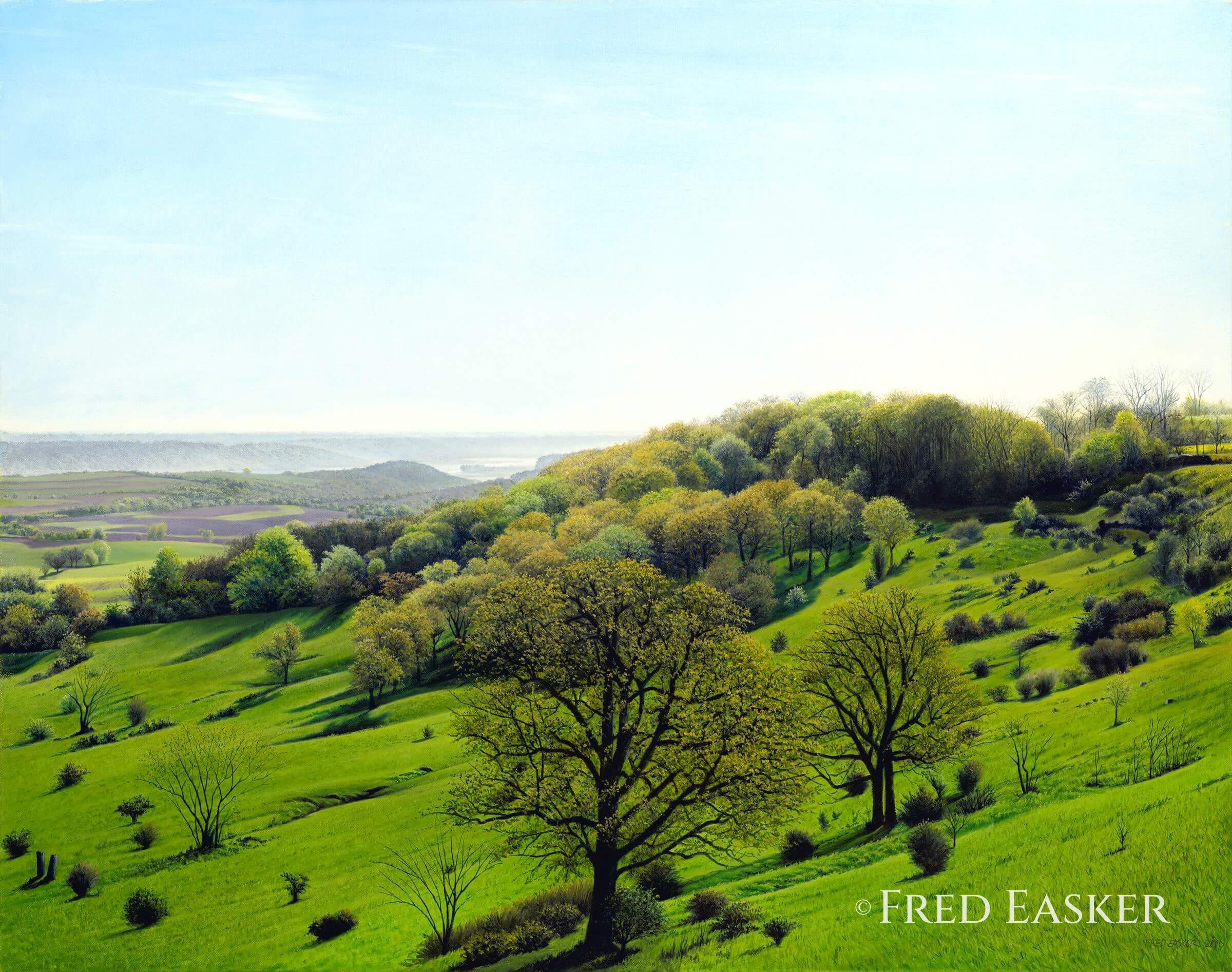 Spring View From Balltown by Fred Easker