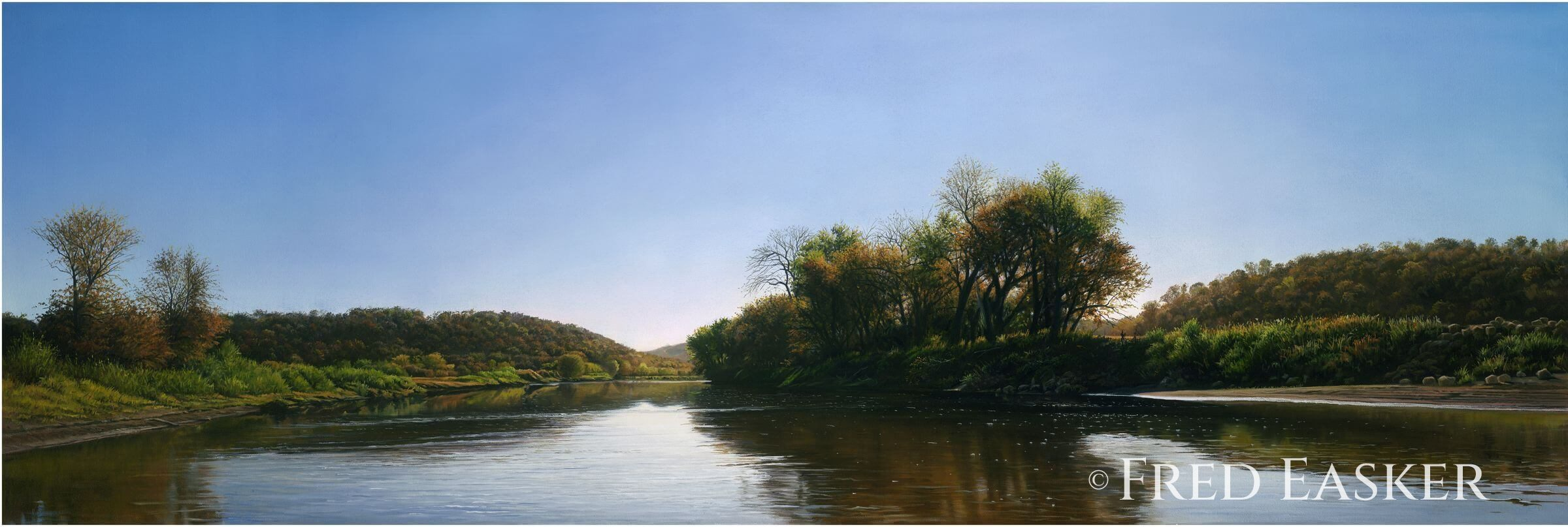 Turkey River Autumn by Fred Easker