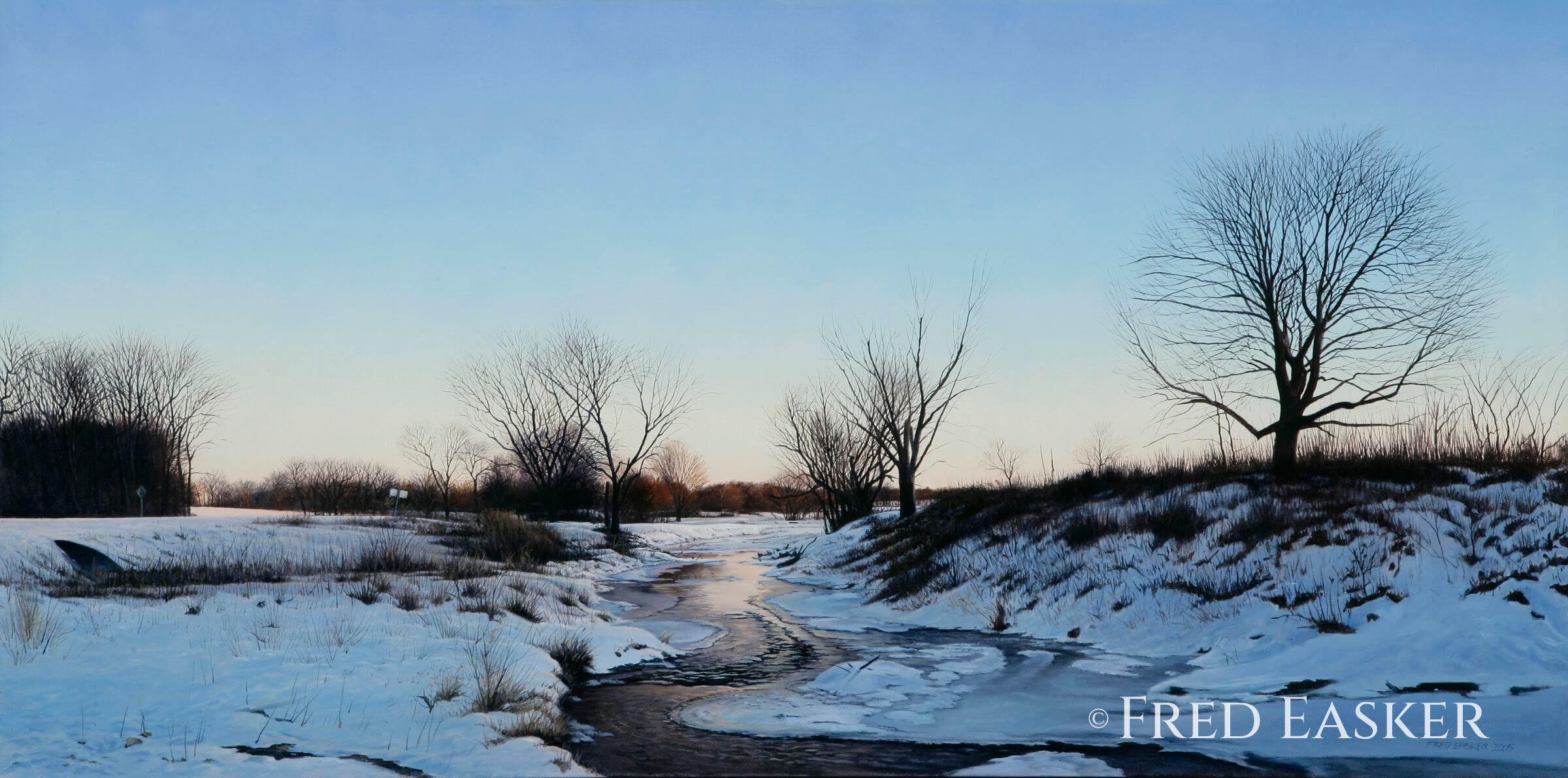 Winter On Blue Creek by Fred Easker